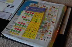 Organizing piano lesson binder