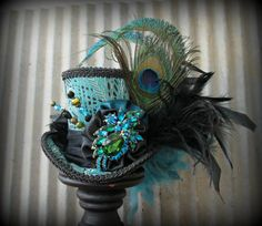 RESERVED FOR CLAUDINE...Mardi Gras Hat Mascquerade by ChikiBird