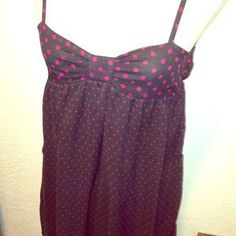 I just added this to my closet on Poshmark: Like NEW!!! Black/Pink polka dot summer dress. Price: $15 Size: M