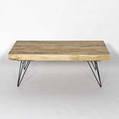 Table basse industrielle scandinave rectangulaire