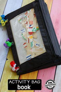 12 Activity Bag Book Ideas for Kids via Kids Activities Blog