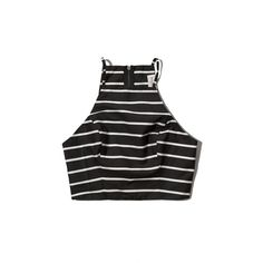 Abercrombie & Fitch Elaine Cutout Crop Top (290 ARS) ❤ liked on Polyvore featuring tops, shirts, crop tops, crops, black stripe, zip crop top, cropped shirts, cutout tops, striped shirt and cut out top