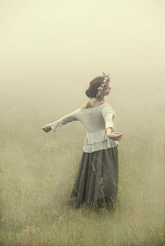 woman in mists