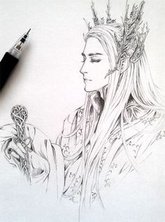 #Thranduil fan art. This is a really good drawing!