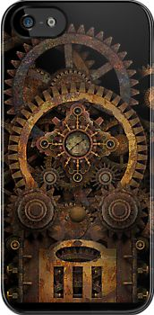 Infernal Steampunk Machine #2B iPhone / iPod case by Steve Crompton, available  for iPhone 5, iPhone 4 and iPod Touch. #steampunk