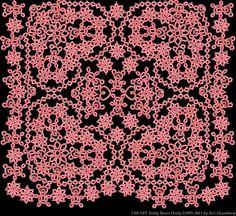 TATtle TALES Tatting Patterns: TATBiT's Teddy Bear Heart Pattern By Teri Dusenbury.