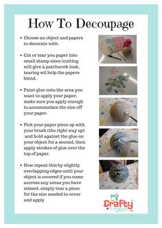 How to Decoupage/Decopatch for beginners