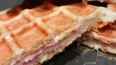 Recette de Candice : Croq-Gaufres feuilletées au poulet et à la mozzarella