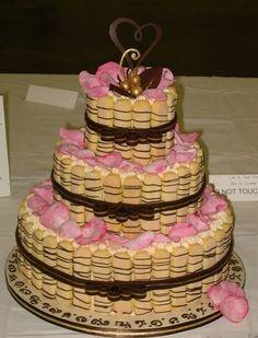 tiramisu drizzled lady fingers cake