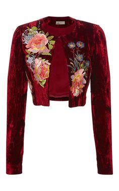 Desiree Cropped Jacket by ALICE ARCHER for Preorder on Moda Operandi