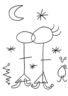 lamina per pintar Sunflower Coloring Pages, Free Coloring Pages, Coloring Sheets, Joan Miro Paintings, Chagall Paintings, Picasso Art, Pablo Picasso, Drawing For Kids, Art For Kids