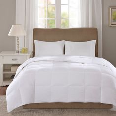 True North by Sleep Philosophy Level 1 300 Thread Count Down Comforter, White