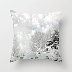 winter magic Throw Pillow by Marianna Tankelevich - $20.00