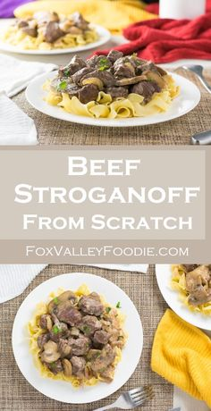 Beef Stroganoff from Scratch | Fox Valley Foodie