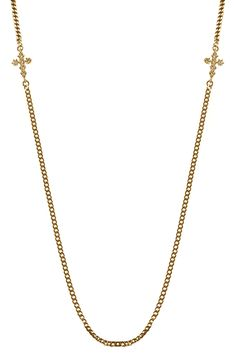 Mister Double Micro Crucis Necklace - Gold