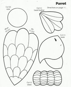 Image 0 first grade arts and crafts worksheets pirate parrot craft template kindergarten arts and crafts . arts and crafts worksheets kindergarten Bird Crafts Preschool, Jungle Crafts, Crafts For Kids, Arts And Crafts, Preschool Ideas, Craft Ideas, Rainforest Crafts, Rainforest Theme, Rainforest Preschool