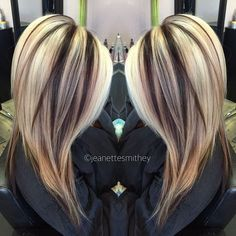 Haare und Co Die perfekten Highlights und Lowlights Haarfarbe - Haarfarben Ideen How To Take Care Of Low Light Hair Color, Hair Color And Cut, Chunky Blonde Highlights, Red Highlights, Caramel Highlights, Blonde With Brown Lowlights, Dark Blonde, Great Hair, Fall Hair