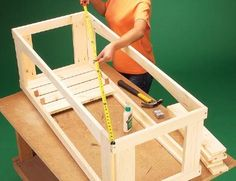 How to build an outdoor storage bench. Step by step instructions and pictures.
