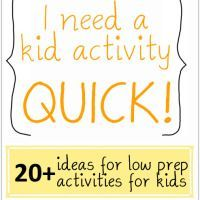 Inside Activities for Kids – Quick and Low Prep!