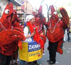 Crab Boil costumes on Mardi Gras Day (c) Patty Lee