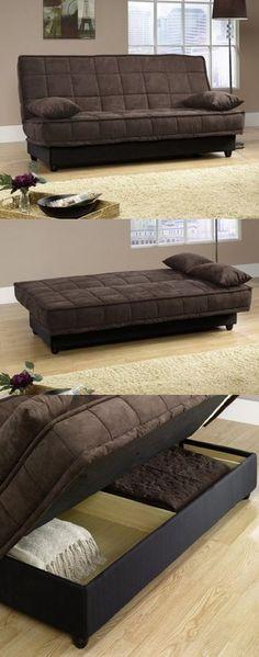 Comfortable convertible sofa.