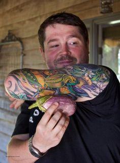 Sean Brock and his tattoos.