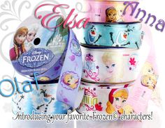 Your favorite Frozen character printed ribbons have arrived at the HairBow Center! Find Elsa, Anna, and Olaf ribbons plus other Disney and character ribbons at http://www.hairbowcenter.com/ribbon/printed-grosgrain-ribbon/character-ribbon.html!