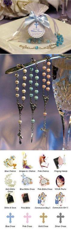 Communion Mini Rosary in Organza Bag favors