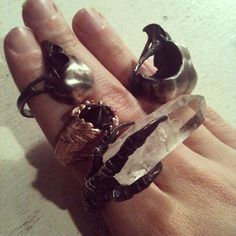Bloodmilk jewelry - one of my faves. | macabre | high fashion | goth | editorial | dark fashion | high end jewelry