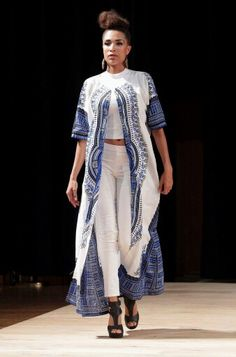 Yes to this blue and white African print peace