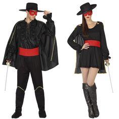 Pareja Bandidos El Zorro #parejas #disfraces #carnaval #novedades2016