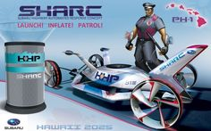 Subaru Sharc wins Design Challenge for a Highway Patrol Vehicle of the Future (2025) at the L.A. Auto Show