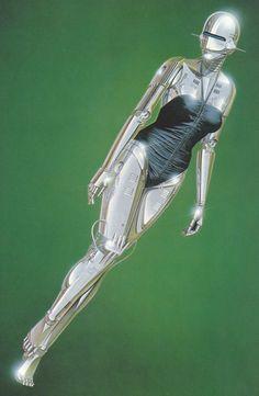 "monolithzine: ""Sexy Robot by Hajime Sorayama "" Ehime, Art Mannequin, Heavy Metal, Art Cyberpunk, Arte Robot, Robot Girl, Futuristic Art, Airbrush Art, Sci Fi Art"