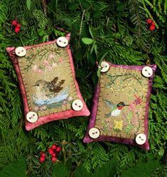 Button Up Birdies 5 - July Wren and August Hummingbird - Victoria Sampler (Only making the wren)