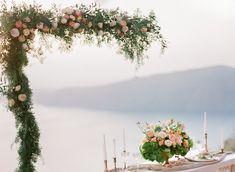 Intimate Wedding in Santorini Floral Wedding, Wedding Flowers, Wedding Backdrops, Santorini Wedding, Destination Wedding Photographer, Floral Design, Fine Art, Table Decorations, Weddings
