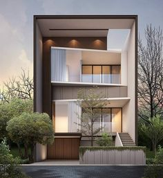 Best Ideas for house modern architecture plan interiors Design Exterior, Facade Design, Modern House Facades, Modern House Design, Contemporary Design, Minimalist Architecture, Architecture Plan, Building Design, Building A House