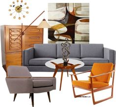 """Mid Century Modern #1"" by czarabella on Polyvore"