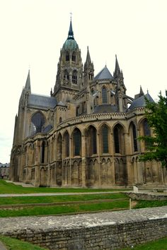 Cathedral in Bayeux, France is absolutely BEAUTIFUL!! I stayed in a little Bed & Breakfast right next door & this was my view!;)