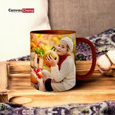 Create a custom photo mugs Online. Personalized ceramic mugs will bring a smile to your face (even on a Monday! Custom Photo Mugs, Ceramic Mugs, Coffee Mugs, Fun Ideas, Canvas, Tableware, Blog, Gifts, Create