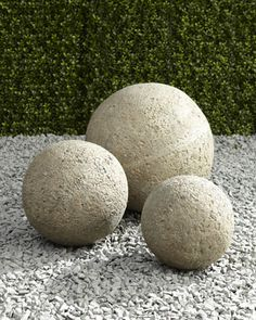Love these garden balls - would use all three sizes together!