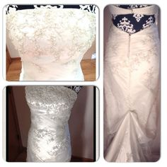 Wedding or Formal Dress- ivory, beautifully beaded Wedding or Formal Dress- ivory color, beautiful bead sequencing on bodice and throughout dress. pearl detail in back to protect train while dancing. Sexy open back and gorgeous front! Great condition, worn once Fire and Ice Dresses