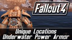 Fallout 4 Unique Locations - Underwater Power Armor Whats up my Vault Dwellers? Fallout 4 Guide, Fallout 4 Secrets, Fallout Lore, Fallout Facts, Fallout 4 Power Armor, Fallout 4 Companions, Vault Dweller, Vault Tec, Best Mods