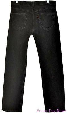 7ce7549c Levi's 501 Jeans Mens Cotton Straight Leg Button Fly 501XX Black 33 x 30 # Levis