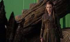 Evangeline Lily as an elf in Jackson's second Hobbit film. The character is not in the book.