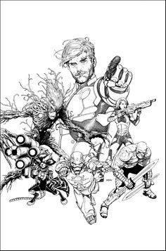 Guardians of the galaxy pencils by steve mcniven. Cartoon Drawing Tutorial, Cartoon Girl Drawing, Comic Drawing, Guy Drawing, Drawing Sketches, Cartoon Drawings Of People, Sketches Of People, Drawing People, Comic Book Artists