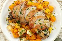 Bacon-wrapped stuffed chicken - Recipes - Slimming World