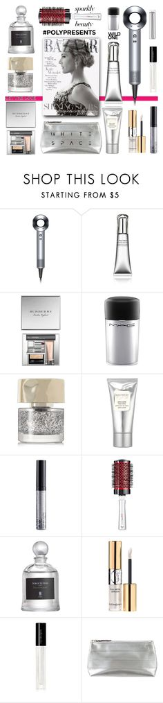 """""""#PolyPresents: Sparkly Beauty"""" by esch103 ❤ liked on Polyvore featuring beauty, Dyson, Shiseido, Burberry, MAC Cosmetics, Smith & Cult, Laura Mercier, NYX, Serge Lutens and Yves Saint Laurent"""