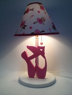 Lamp with ballet slippers.  Designed by Under Ten CR. www.undertencr.net www.facebook.com/undertencr