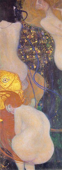 Gustav Klimt - (1862-1918), - 1901-1902 — Pesci d'oro (olio su tela, 181 cm × 66.5 cm)