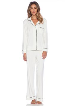 eberjey Gisele PJ Set in Ivory